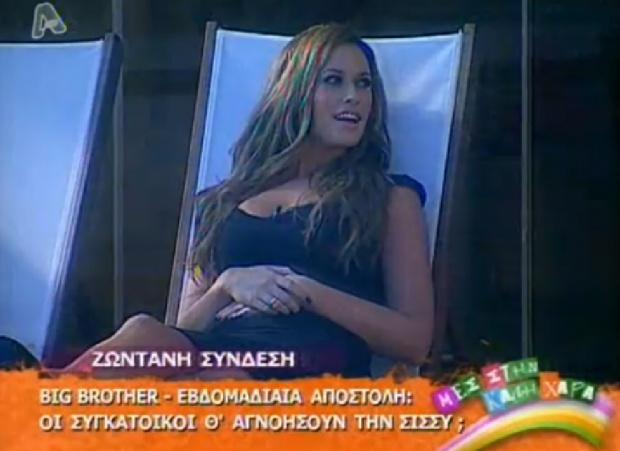 Η Σίσσυ στο σπίτι του Big Brother